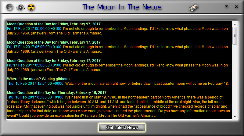 LunarPhase Pro 4 Moon In The News Screen