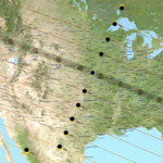 USA 2017 Solr Eclipse Map