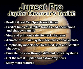 Jupsat Pro - Jupiter And Satellites Simulation Software